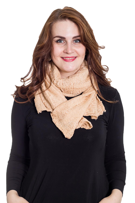 ШарфШарфы<br>Очаровательный женский шарф, который украсит Ваш образ  Цвет: золотистый  Размер: 60*125 см<br><br>По сезону: Осень,Весна<br>Размер : 60*125<br>Материал: Трикотаж<br>Количество в наличии: 1