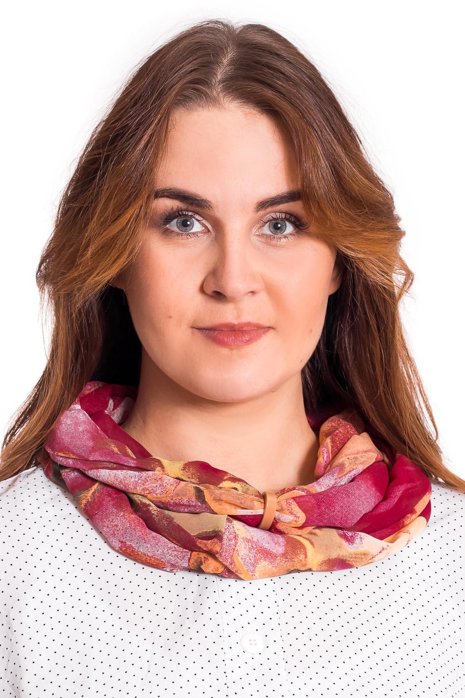 Шарф шарф снежинки красный