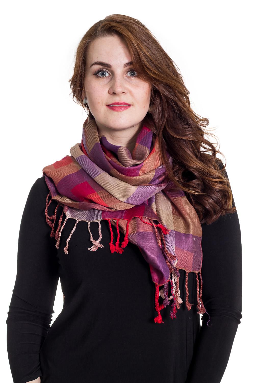 ПалантинПалантины<br>Палантин является незаменимым аксессуаром в гардеробе. Он способен защитить от холода или просто внести в образ законченность и некую изюминку.  Размер: 70*200 см.  Цвет: красный, фиолетовый, коричневый<br><br>По сезону: Осень,Весна<br>Размер : UNI<br>Материал: Вискоза<br>Количество в наличии: 1