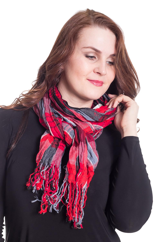 ШарфШарфы<br>Шарф является незаменимым аксессуаром в гардеробе. Он способен защитить от холода или просто внести в образ законченность и некую изюминку.  Цвет: красный, серый  Размер: 170*70 см<br><br>По сезону: Всесезон<br>Размер : UNI<br>Материал: Вискоза<br>Количество в наличии: 3