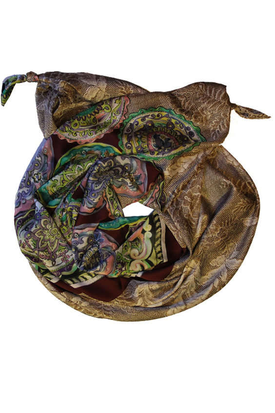 ШарфШарфы<br>Очаровательный женский шарф, который украсит Ваш образ  Цвет: коричневый и др.  Размер: 185*65 см<br><br>Размер : UNI<br>Материал: Искусственный шелк<br>Количество в наличии: 1