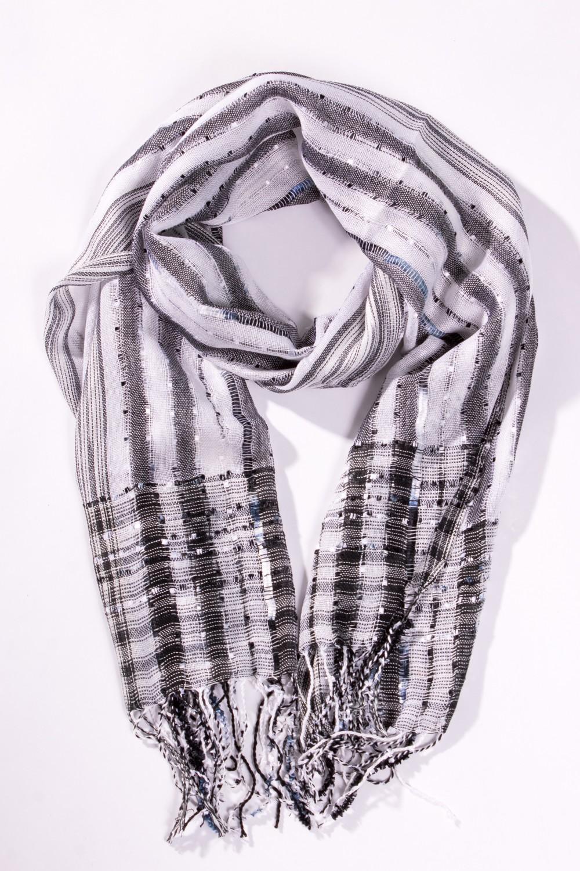 ШарфШарфы<br>Женский шарф из мягкого акрила  Цвет: белый, серый<br><br>Размер : UNI<br>Материал: Акрил<br>Количество в наличии: 2
