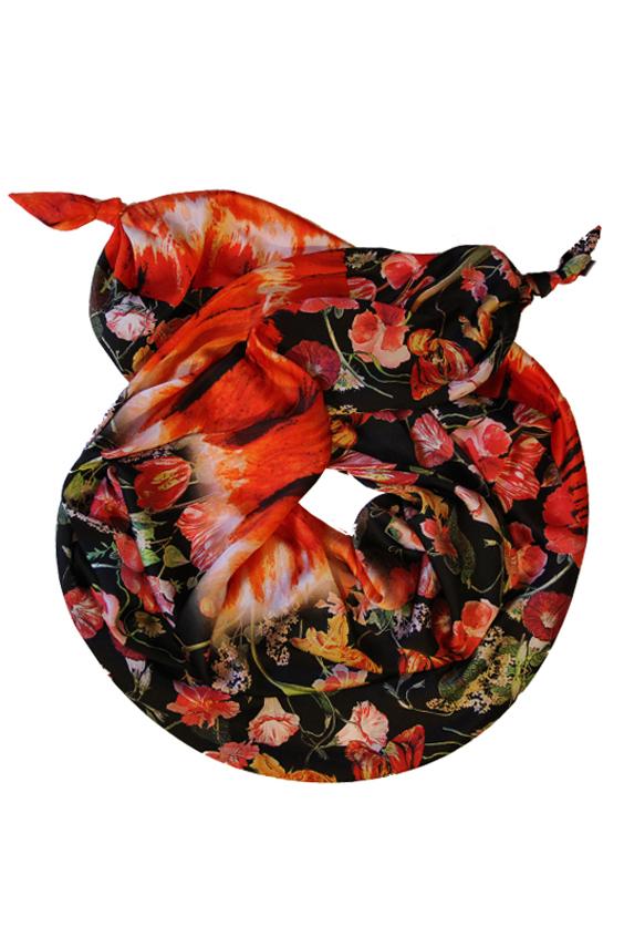ШарфШарфы<br>Очаровательный женский шарф, который украсит Ваш образ  Цвет: черный, красный и др.  Размер: 185*65 см<br><br>По сезону: Всесезон<br>Размер : UNI<br>Материал: Искусственный шелк<br>Количество в наличии: 1