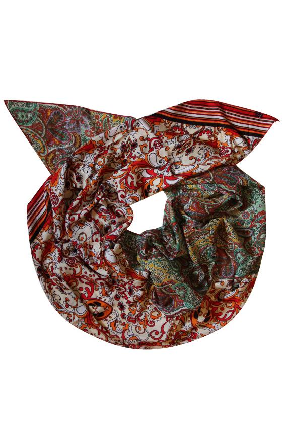 ШарфШарфы<br>Очаровательный женский шарф, который украсит Ваш образ  Цвет: мультицвет, красный.  Размер: 260*75 см<br><br>Размер : UNI<br>Материал: Вискоза<br>Количество в наличии: 1