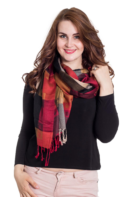 ПалантинПалантины<br>Палантин является незаменимым аксессуаром в гардеробе. Он способен защитить от холода или просто внести в образ законченность и некую изюминку.  Размер: 70*200 см.  Цвет: бордовый, оранжевый, серый, черный<br><br>По сезону: Осень,Весна<br>Размер : UNI<br>Материал: Вискоза<br>Количество в наличии: 1
