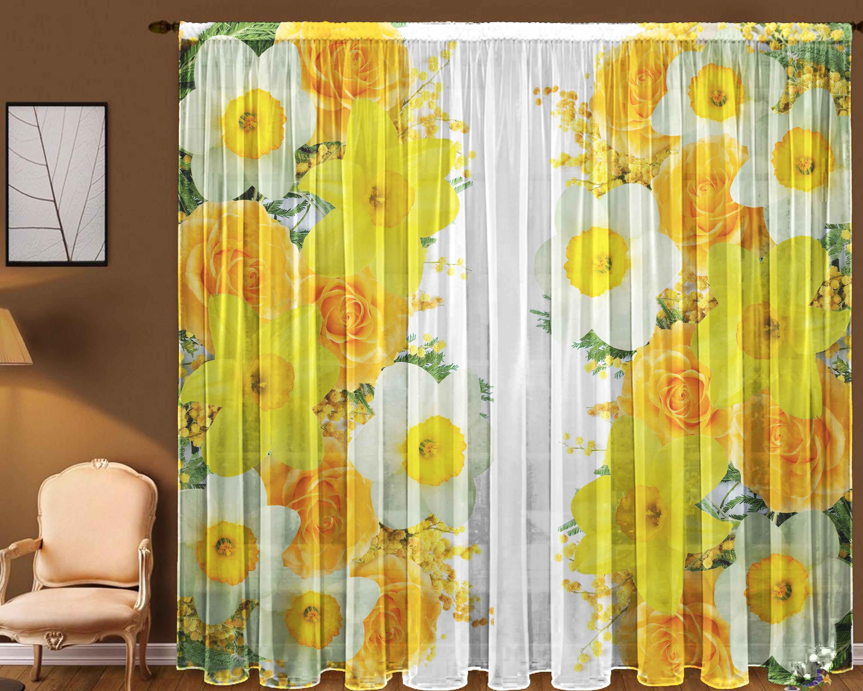 Шторы для комнатыДля комнаты<br>Чудесная тюль для комнаты, состоящая из двух полотен.  В комплекте 2 полотна: Длина 145 см +/- 5 см Высота 270 см +/- 5 см<br><br>Карниз: Однорядный<br>По материалу: Вуаль<br>По рисунку: Растительные мотивы,С принтом (печатью),Цветные,Цветочные<br>По стилю: Классические шторы,Раздвижные шторы<br>Размеры: До пола<br>Размер : 290*270<br>Материал: Вуаль<br>Количество в наличии: 1