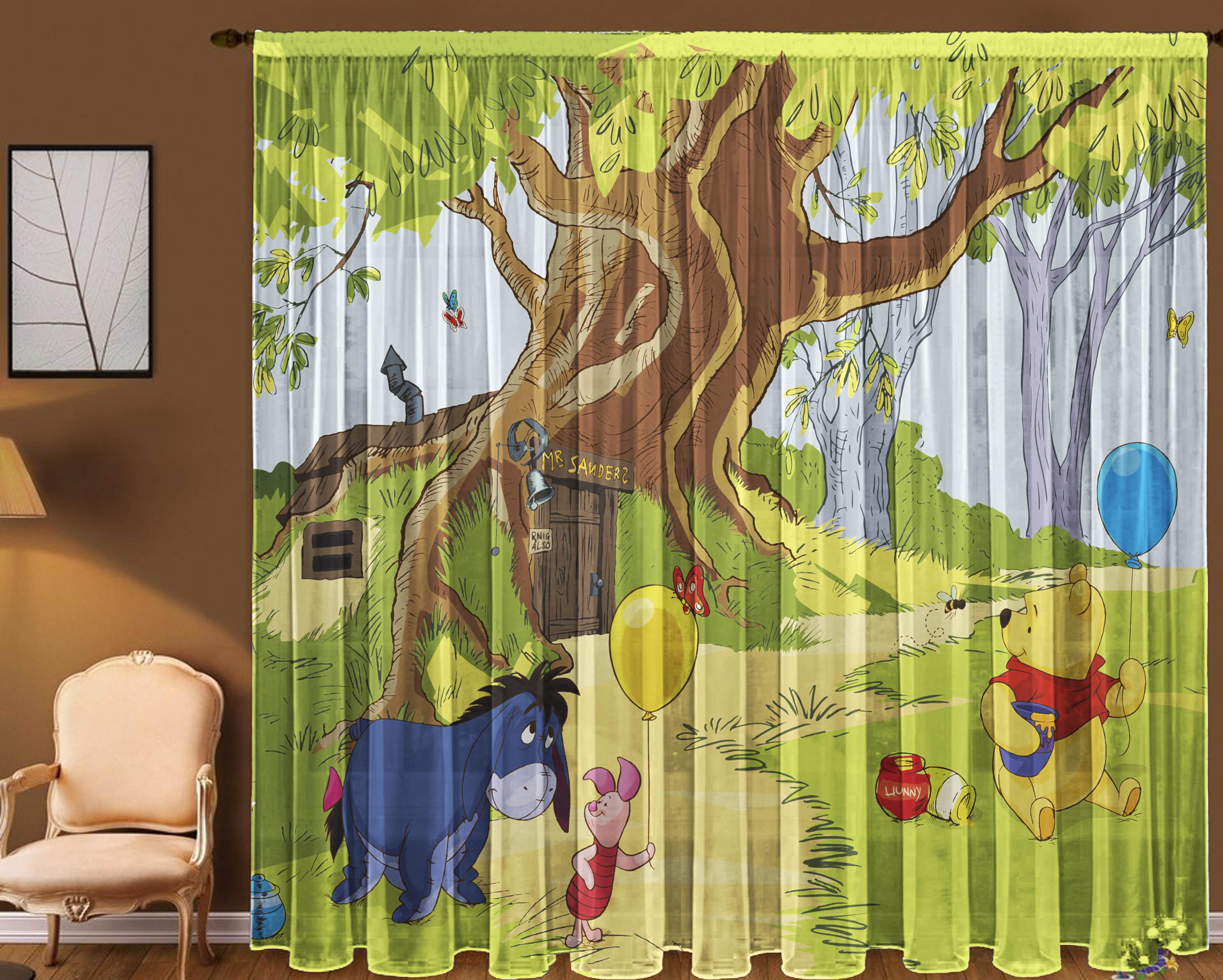 Шторы для комнатыДля комнаты<br>Шторы для комнаты:  В комплекте 2 полотна: Длина 145 см +/- 5 см Высота 270 см +/- 5 см<br><br>Карниз: Однорядный<br>По материалу: Вуаль<br>По рисунку: Мультипликация,С принтом (печатью),Цветные<br>По стилю: Классические шторы,Раздвижные шторы<br>Размеры: До пола<br>Размер : 290*270<br>Материал: Вуаль<br>Количество в наличии: 1