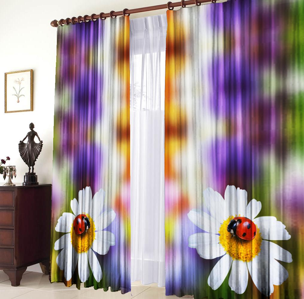 Шторы для комнатыДля комнаты<br>Шторы для комнаты:  В комплекте 2 полотна: Длина 145 см +/- 5 см Высота 270 см +/- 5 см<br><br>По стилю: Классические шторы,Раздвижные шторы<br>По материалу: Портьерные ткани<br>По рисунку: Цветочные,Растительные мотивы,С принтом (печатью),Цветные<br>Карниз: Однорядный<br>Размеры: До пола<br>Размер: 290*270<br>Материал: 100% полиэстер<br>Количество в наличии: 4