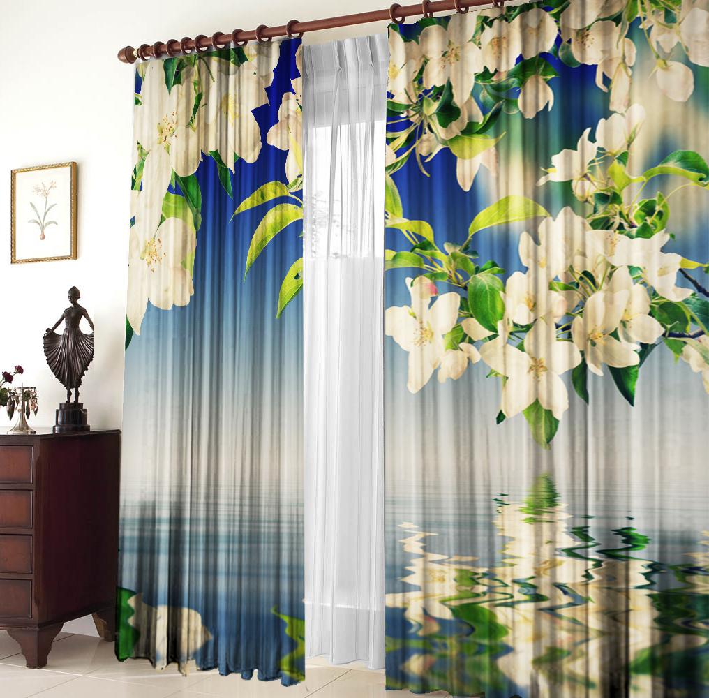 Шторы для комнатыДля комнаты<br>Шторы для комнаты:  2 полотна размером: 145 * 270 ± 5 см  Тюль в комплект не входит<br><br>Карниз: Однорядный<br>По материалу: Портьерные ткани<br>По рисунку: Растительные мотивы,С принтом (печатью),Цветные,Цветочные<br>По стилю: Классические шторы,Раздвижные шторы<br>Размеры: До пола<br>Размер : 290*270<br>Материал: Портьерные ткани<br>Количество в наличии: 1