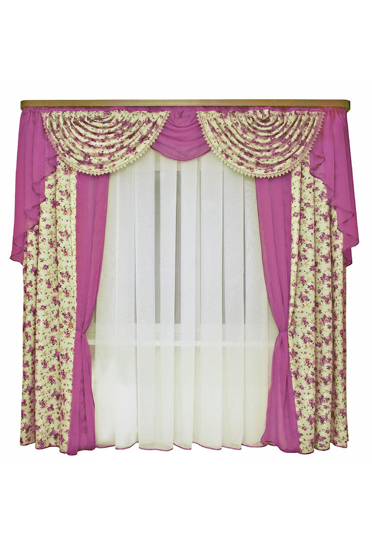 Шторы для комнатыДля комнаты<br>Шторы – это основной элемент интерьера, они всегда в центре внимания, несмотря на богатство мебели. При выборе штор самое первое и, пожалуй, главное – определится с подбором ткани, ее цветом и фактурой.   Шторы для гостинной изготавливаются из более плотных тканей, таких как жакард, тафта, велюр. Они могут дополнятся ламбрекеном со всевозможными декоративными элементами: стразами, бахромой, лентами. В предложенных моделях тюль не входит в комплект.   Размер: 440*250 см., ламбрекен 300 см.  В изделии использованы цвета: бежевый, фиолетовый.<br><br>Карниз: Двухрядный<br>По материалу: Портьерные ткани<br>По рисунку: Цветные,Цветочные,С принтом<br>По стилю: Классические шторы,Раздвижные шторы<br>Размеры: До пола<br>По сезону: Всесезон<br>Размер : 440*250<br>Материал: Портьерные ткани<br>Количество в наличии: 2