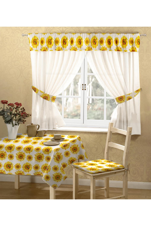 Шторы для кухниДля кухни<br>Комплект штор с ламбрекеном с фотопечатью. Оригинальный дизайн и фотопечать делают эти шторы неповторимыми, а Ваш дом уютным.    В комплект входят: тюль 2 полотна 150*180 см., ламбрекен из атласа. Рекомендуемая длина карниза 300 см.  В изделии использованы цвета: белый, желтый и др.<br><br>Карниз: Двухрядный<br>По материалу: Вуаль,Атлас<br>По рисунку: Растительные мотивы,Цветные,Цветочные,С принтом<br>По способу крепления: На крючках<br>По стилю: Классические шторы<br>Размеры: Ниже подоконника<br>Размер : 300*180<br>Материал: Вуаль<br>Количество в наличии: 1