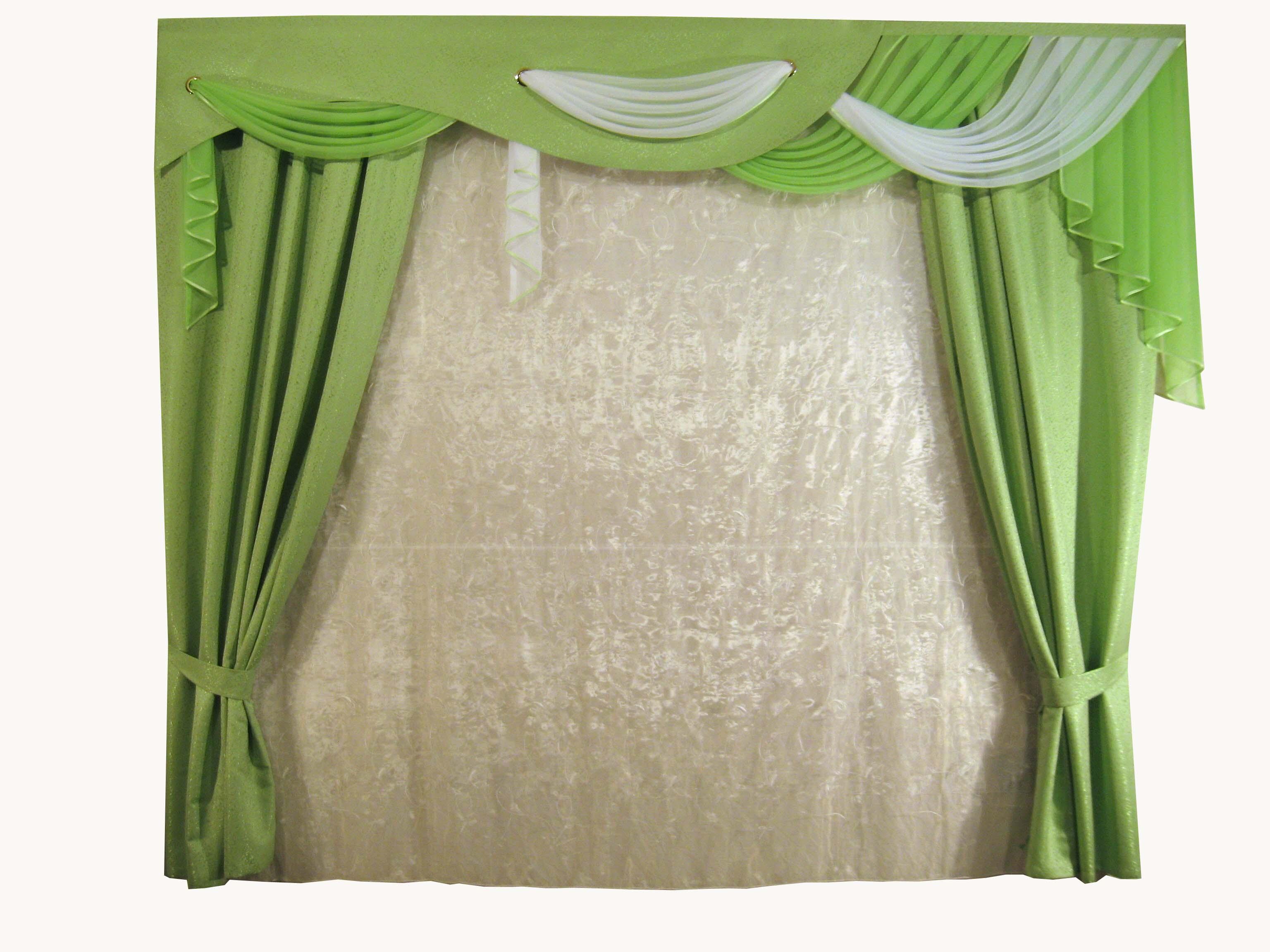 Шторы для комнатыДля комнаты<br>Великолепный вуалевый комплект, который украсит спальню, гостиную, детскую комнату. Эти готовые шторы, подойдут к любому интерьеру.   Рекомендуемая ширина карниза 300*250 см  Цвет: белый, зеленый Тюль белый прозрачный<br><br>По стилю: Классические шторы<br>По материалу: Вуаль<br>По рисунку: Цветные<br>По способу крепления: С ламбрекеном,С подвязами<br>Карниз: Двухрядный<br>Размеры: До пола<br>Размер: 3.0*2.5<br>Материал: 100% полиэстер<br>Количество в наличии: 1