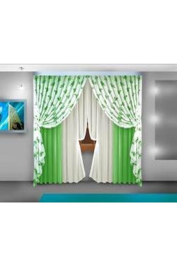 Шторы для комнатыДля комнаты<br>Чудесные шторы для комнаты. Украсте свой дом с нашими изделиями  Цвет: зеленый, белый.  В комплект входят: Шторы 280*250 см - 2шт Шторы декоративные 140*250 см - 2шт Тюль 140*250 см - 2шт<br><br>Карниз: Трехрядный<br>По материалу: Портьерные ткани<br>По рисунку: Растительные мотивы,Цветные,С принтом<br>По стилю: Классические шторы,Раздвижные шторы<br>Размеры: До пола<br>Размер : 560*250<br>Материал: Портьерные ткани<br>Количество в наличии: 1