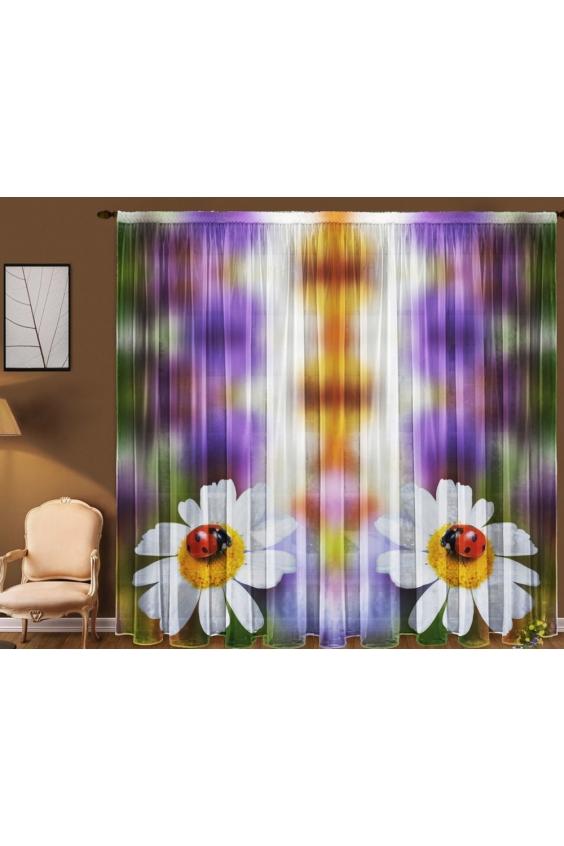Шторы для комнатыДля комнаты<br>Чудесная тюль для комнаты, состоящая из двух полотен. Украсте свой дом с нашими изделиями  Цвет: мультицвет.  В комплект входят: 2 полотна размером: 145 * 270 ± 5 см<br><br>Карниз: Однорядный<br>По материалу: Вуаль<br>По рисунку: Растительные мотивы,С принтом (печатью),Цветные,Цветочные<br>По стилю: Классические шторы<br>Размеры: До пола<br>Размер : 290*270<br>Материал: Вуаль<br>Количество в наличии: 3