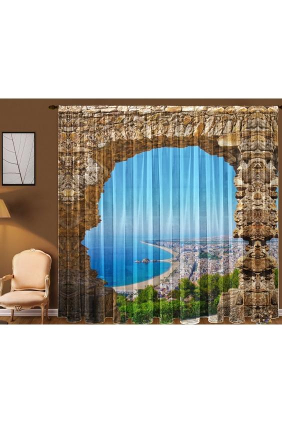 Шторы для комнатыДля комнаты<br>Чудесные шторы для комнаты. Украсте свой дом с нашими изделиями  Цвет: коричневый, голубой и др.  В комплект входят: Тюль, 1,45 * 2,70 ± 5 см * 2 полотна<br><br>Карниз: Однорядный<br>По материалу: Вуаль<br>По рисунку: С принтом (печатью),Цветные<br>По стилю: Классические шторы<br>Размеры: До пола<br>Размер : 290*270<br>Материал: Вуаль<br>Количество в наличии: 1