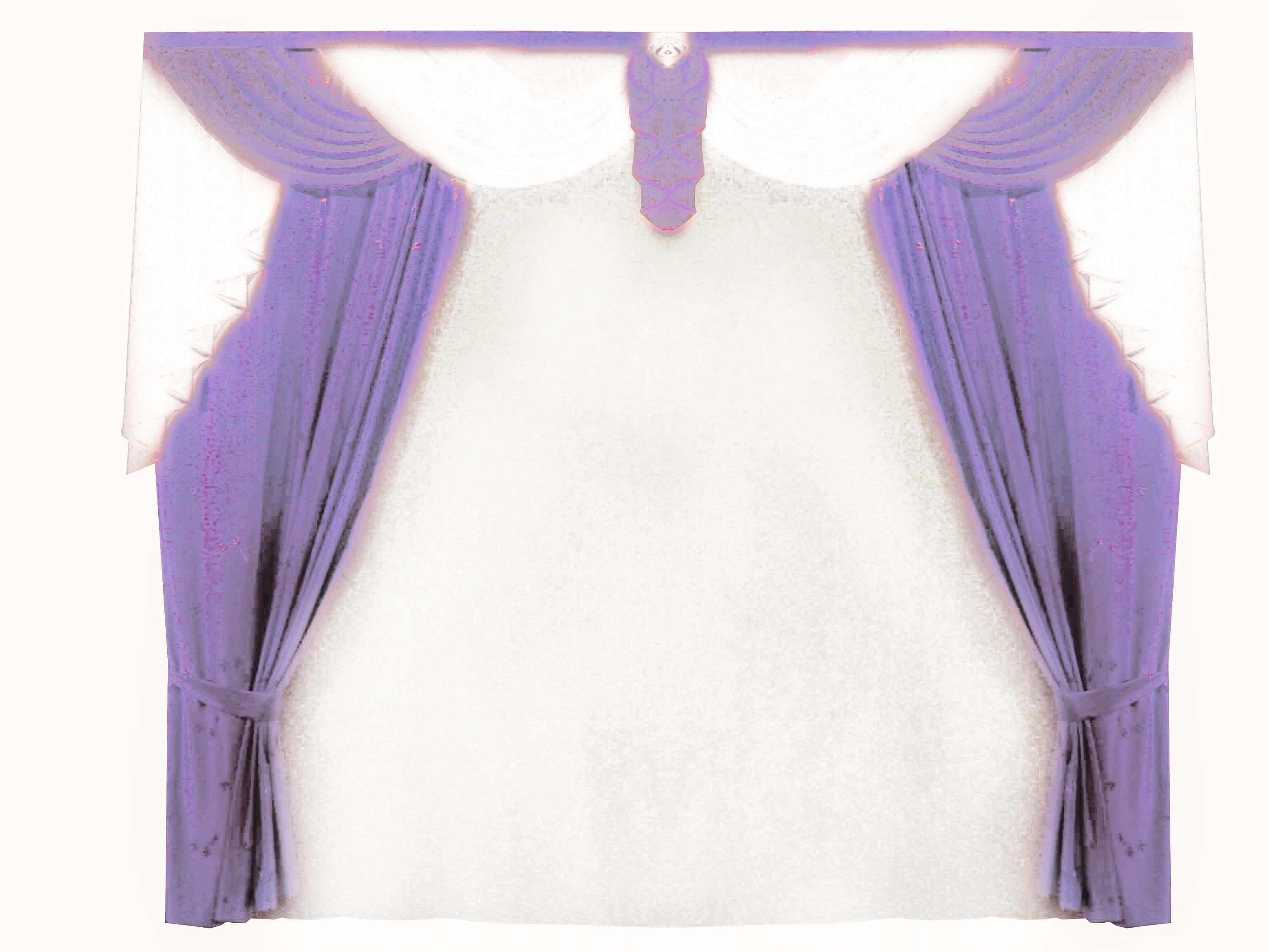 Шторы для комнатыДля комнаты<br>Великолепный вуалевый комплект, который украсит спальню, гостиную, детскую комнату. Эти готовые шторы, подойдут к любому интерьеру.   Рекомендуемая ширина карниза 400*270 см  Цвет: белый, сиреневый Тюль белый прозрачный<br><br>По стилю: Классические шторы<br>По материалу: Вуаль<br>По рисунку: Однотонные<br>Карниз: Двухрядный<br>Размер: 4.0*2.7<br>Материал: None<br>Количество в наличии: 1