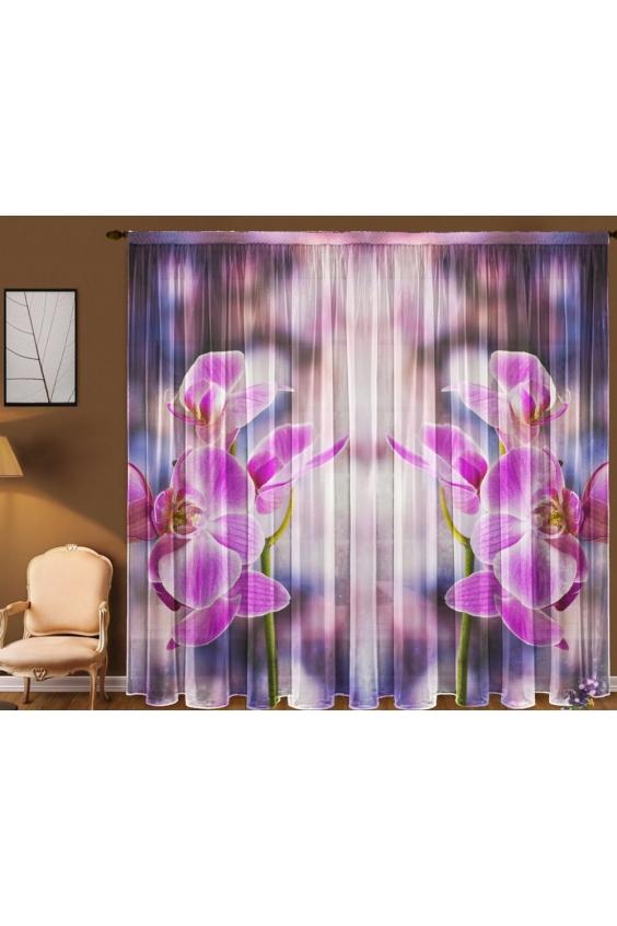 Шторы для комнатыДля комнаты<br>Чудесные шторы для комнаты. Украсте свой дом с нашими изделиями  Цвет: белый, розовый, сиреневый.  В комплект входят: Тюль, 1,45 * 2,70 ± 5 см * 2 полотна<br><br>Карниз: Однорядный<br>По материалу: Вуаль<br>По рисунку: Бабочки,Растительные мотивы,С принтом (печатью),Цветные,Цветочные<br>По стилю: Классические шторы<br>Размеры: До пола<br>Размер : 290*270<br>Материал: Вуаль<br>Количество в наличии: 2