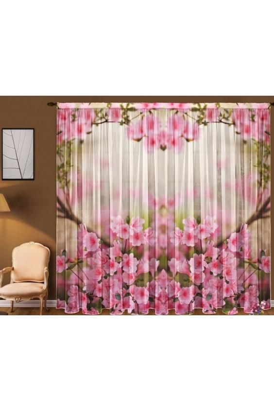 Шторы для комнатыДля комнаты<br>Чудесные шторы для комнаты. Украсте свой дом с нашими изделиями  Цвет: белый, розовый.  В комплект входят: Тюль, 1,45 * 2,70 ± 5 см * 2 полотна<br><br>Карниз: Однорядный<br>По материалу: Вуаль<br>По рисунку: Растительные мотивы,С принтом (печатью),Цветные,Цветочные<br>По стилю: Классические шторы<br>Размеры: До пола<br>Размер : 290*270<br>Материал: Вуаль<br>Количество в наличии: 2