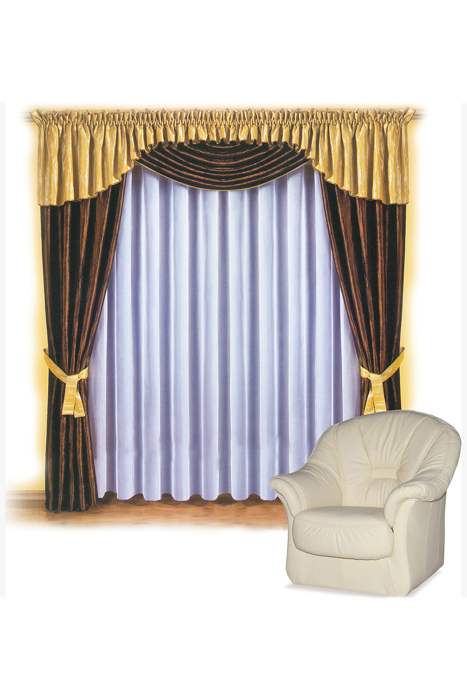 Шторы для комнатыДля комнаты<br>Шторы – это основной элемент интерьера, они всегда в центре внимания, несмотря на богатство мебели. При выборе штор самое первое и, пожалуй, главное – определится с подбором ткани, ее цветом и фактурой.  Шторы для гостинной изготавливаются из более плотных тканей, таких как жакард, тафта, велюр. Они могут дополнятся ламбрекеном со всевозможными декоративными элементами: стразами, бахромой, лентами. В предложенных моделях тюль не входит в комплект.   Размер: 400*250 см., ламбрекен 550 см.  В изделии использованы цвета: коричневый, желтый.<br><br>Карниз: Двухрядный<br>Отделка края: Лентами<br>По материалу: Тканевые<br>По рисунку: Однотонные<br>По способу крепления: С ламбрекеном<br>По стилю: Классические шторы,Раздвижные шторы<br>Размеры: До пола<br>По сезону: Всесезон<br>Размер : 400*250<br>Материал: Тафта<br>Количество в наличии: 1