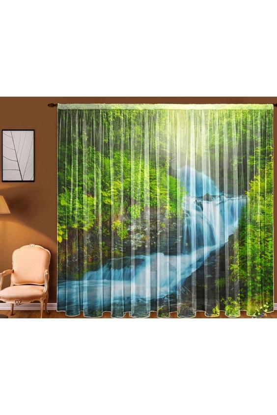 Шторы для комнатыДля комнаты<br>Чудесные шторы для комнаты. Украсте свой дом с нашими изделиями  Цвет: зеленый, голубой и др.  В комплект входят: Тюль, 1,45 * 2,70 ± 5 см * 2 полотна<br><br>Карниз: Однорядный<br>По материалу: Вуаль<br>По рисунку: Растительные мотивы,С принтом (печатью),Цветные<br>По стилю: Классические шторы<br>Размеры: До пола<br>Размер : 290*270<br>Материал: Вуаль<br>Количество в наличии: 1