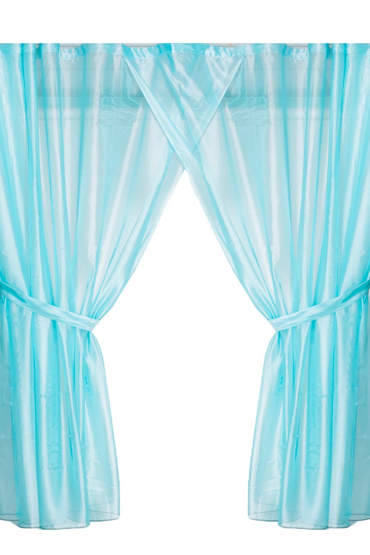 ШтораДля комнаты<br>Чудесные шторы для комнаты. Украсьте свой дом с нашими изделиями  В  комплекте 2 портьеры и 2 подхвата Длина карниза до 300 см.  Цвет: голубой<br><br>Карниз: Однорядный<br>По материалу: Органза<br>По рисунку: Однотонные<br>По способу крепления: С подвязами<br>По стилю: Классические шторы<br>Размеры: До пола<br>Размер : 450*270<br>Материал: Вуаль<br>Количество в наличии: 1