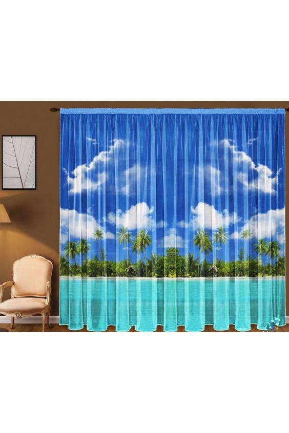 Шторы для комнатыДля комнаты<br>Чудесная тюль для комнаты, состоящая из двух полотен. Украсте свой дом с нашими изделиями  Цвет: синий, голубой, зеленый.  В комплект входят: 2 полотна размером: 145 * 270 ± 5 см<br><br>Карниз: Однорядный<br>По материалу: Вуаль<br>По рисунку: Бабочки,Растительные мотивы,Цветные,С принтом<br>По стилю: Классические шторы<br>Размеры: До пола<br>Размер : 290*270<br>Материал: Вуаль<br>Количество в наличии: 1