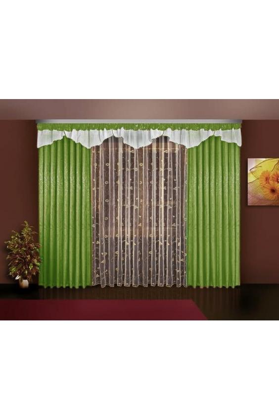 Шторы для комнатыДля комнаты<br>Чудесные шторы для комнаты. Украсте свой дом с нашими изделиями  Цвет: зеленый, белый.  В комплект входят: Тюль 350*250 см 2 портьеры 140*250 см Ламбрекен 420*35 см<br><br>Карниз: Трехрядный<br>По материалу: Портьерные ткани,Тканевые<br>По рисунку: Однотонные<br>По стилю: Классические шторы,Раздвижные шторы<br>Размеры: До пола<br>Размер : 280*250<br>Материал: Портьерные ткани<br>Количество в наличии: 1