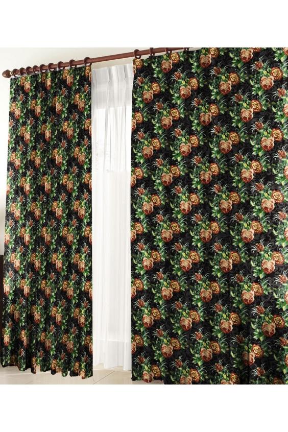 Шторы для комнатыДля комнаты<br>Чудесные шторы для комнаты. Украсте свой дом с нашими изделиями  Цвет: черный, зеленый и др.  В комплект входят: 2 полотна размером: 145 * 270 ± 5 см  Тюль в комплект не входит.   Крепление: Шторная лента (на обычный карниз)<br><br>Карниз: Однорядный<br>По материалу: Тканевые<br>По рисунку: Растительные мотивы,Цветные,С принтом<br>По стилю: Классические шторы,Раздвижные шторы<br>Размеры: До пола<br>Размер : 290*270<br>Материал: Портьерные ткани<br>Количество в наличии: 2