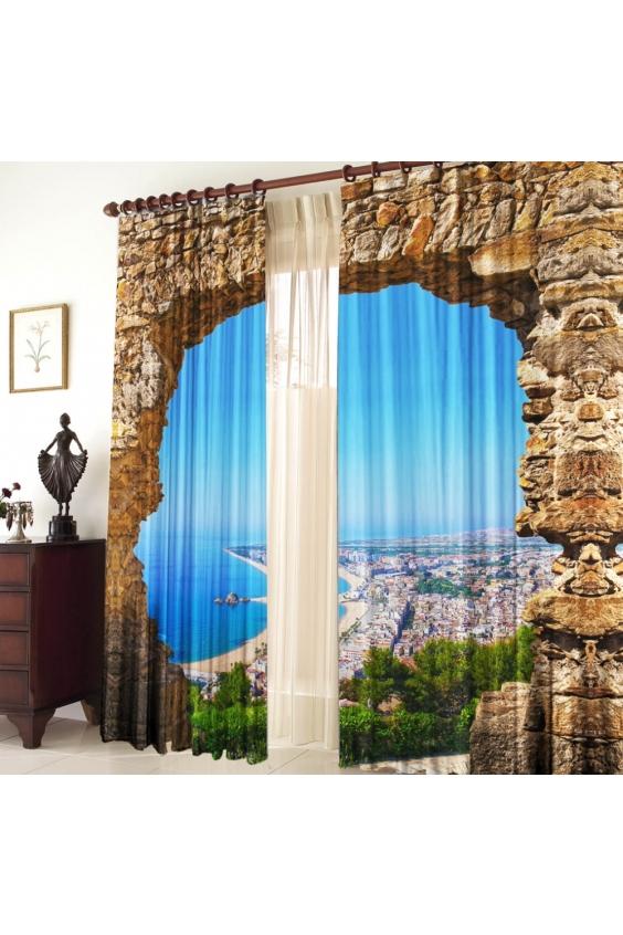 Шторы для комнатыДля комнаты<br>Чудесные шторы для комнаты. Украсте свой дом с нашими изделиями  Цвет: голубой, коричневый и др.  В комплект входят: Размер: 145 * 270 ± 5 см * 2 шт   Крепление: Шторная лента (на обычный карниз)<br><br>По стилю: Классические шторы,Раздвижные шторы<br>По материалу: Тканевые<br>По рисунку: Растительные мотивы,С принтом (печатью),Цветные<br>Карниз: Однорядный<br>Размеры: До пола<br>Размер: 290*270<br>Материал: 100% полиэстер<br>Количество в наличии: 2