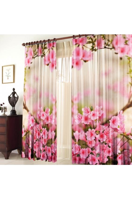 Шторы для комнатыДля комнаты<br>Чудесные шторы для комнаты. Украсте свой дом с нашими изделиями  Цвет: розовый,  белый.  В комплект входят: 2 полотна размером: 145 * 270 ± 5 см  Тюль в комплект не входит.   Крепление: Шторная лента (на обычный карниз)<br><br>Карниз: Однорядный<br>По материалу: Тканевые<br>По рисунку: Растительные мотивы,С принтом (печатью),Цветные,Цветочные<br>По стилю: Классические шторы,Раздвижные шторы<br>Размеры: До пола<br>Размер : 290*270<br>Материал: Габардин<br>Количество в наличии: 1
