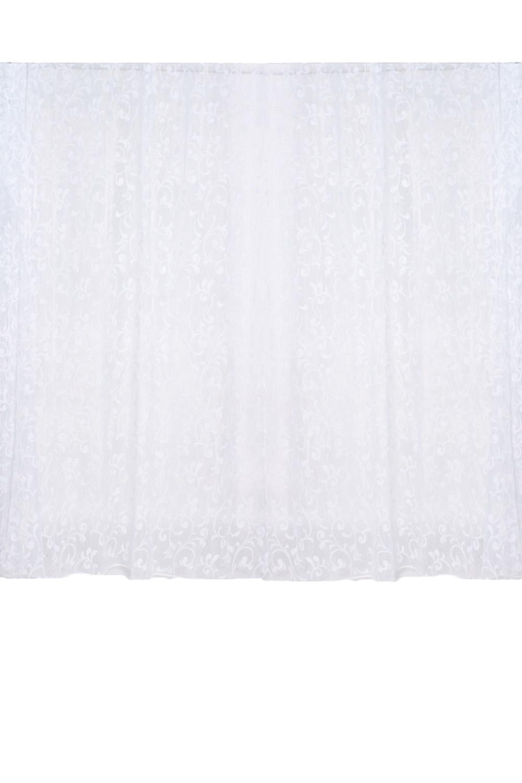 ШтораДля комнаты<br>Чудесные шторы для комнаты. Украсьте свой дом с нашими изделиями  Длина карниза до 300 см.  Цвет: белый<br><br>Карниз: Однорядный<br>По материалу: Органза<br>По рисунку: Однотонные,С принтом<br>По способу крепления: С подвязами<br>По стилю: Классические шторы<br>Размеры: До пола<br>Размер : 4,7*2,65<br>Материал: Органза<br>Количество в наличии: 1