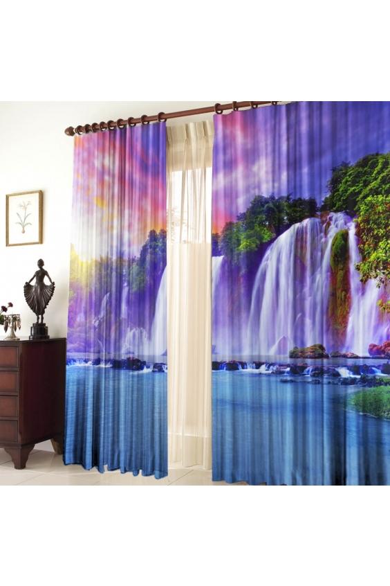 Шторы для комнатыДля комнаты<br>Чудесные шторы для комнаты. Украсте свой дом с нашими изделиями  Цвет: сиреневый, синий и др.  В комплект входят: 2 полотна размером: 145 * 270 ± 5 см  Тюль в комплект не входит.   Крепление: Шторная лента (на обычный карниз)<br><br>Карниз: Однорядный<br>По материалу: Тканевые<br>По рисунку: С принтом (печатью),Цветные<br>По стилю: Классические шторы,Раздвижные шторы<br>Размеры: До пола<br>Размер : 290*270<br>Материал: Габардин<br>Количество в наличии: 1