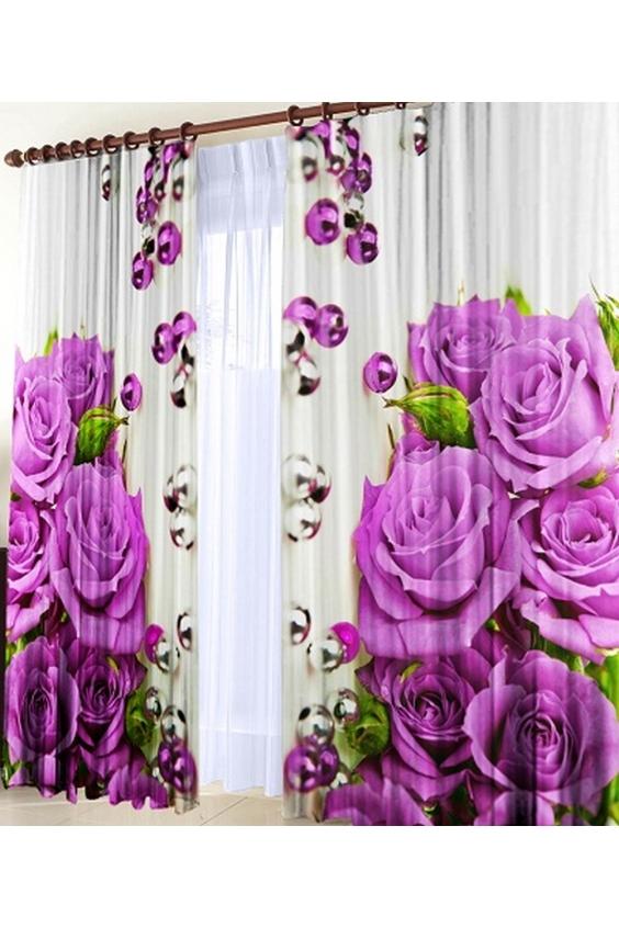 Шторы для комнатыДля комнаты<br>Чудесные шторы для комнаты. Украсте свой дом с нашими изделиями  Цвет: белый, фиолетовый и др.  В комплект входят: Размер: 145 * 270 ± 5 см * 2 шт   Крепление: Шторная лента (на обычный карниз)<br><br>Карниз: Однорядный<br>По материалу: Тканевые<br>По рисунку: Растительные мотивы,Цветные,Цветочные,С принтом<br>По стилю: Классические шторы,Раздвижные шторы<br>Размеры: До пола<br>Размер : 290*270<br>Материал: Габардин<br>Количество в наличии: 2