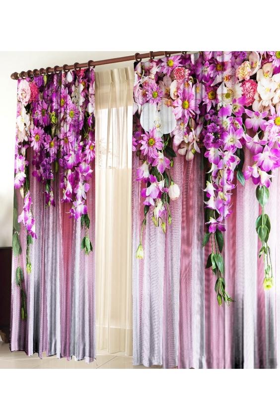 Шторы для комнатыДля комнаты<br>Чудесные шторы для комнаты. Украсте свой дом с нашими изделиями  Цвет: белый, фиолетовый, розовый и др.  В комплект входят: Размер: 145 * 270 ± 5 см * 2 шт   Крепление: Шторная лента (на обычный карниз)<br><br>Карниз: Однорядный<br>По материалу: Тканевые<br>По рисунку: Растительные мотивы,С принтом (печатью),Цветные,Цветочные<br>По стилю: Классические шторы,Раздвижные шторы<br>Размеры: До пола<br>Размер : 290*270<br>Материал: Габардин<br>Количество в наличии: 1