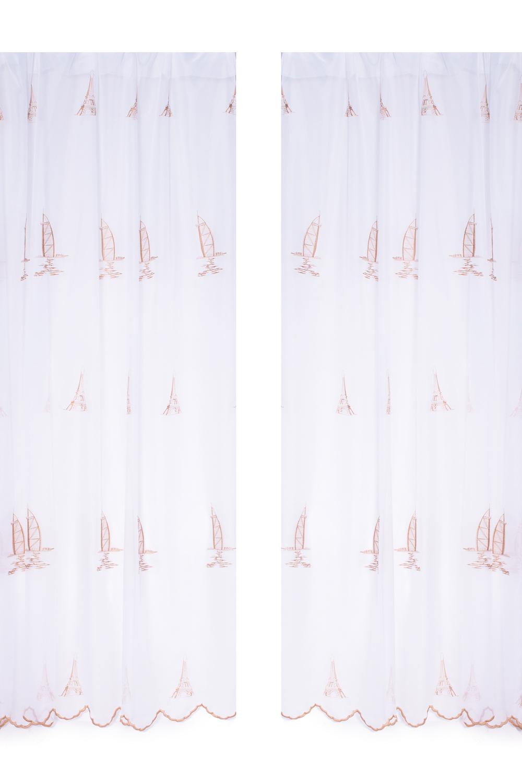 Комплект шторДля комнаты<br>Шторы придают окну законченный внешний вид, создавая в помещении атмосферу уюта и тепла.  Тюль 2 шт размер 200*250 см.  Цвет: белый, коричневый.<br><br>Карниз: Однорядный<br>По материалу: Вуаль<br>По рисунку: Цветные,С принтом<br>По стилю: Классические шторы,Раздвижные шторы<br>Размеры: До пола<br>По сезону: Всесезон<br>Размер : 250*400<br>Материал: Вуаль<br>Количество в наличии: 1