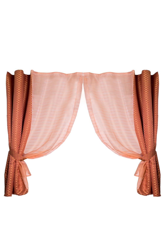 Комплект штор для кухниДля кухни<br>Чудесные шторы для кухни. Украсьте свой дом с нашими изделиями  В  комплекте: 2 шторы и тюль  Цвет: бежевый, коричневый<br><br>Карниз: Двухрядный<br>По материалу: Портьерные ткани<br>По рисунку: Цветные<br>По стилю: Классические шторы<br>Размеры: Ниже подоконника<br>Размер : 3,4*2,2<br>Материал: Портьерные ткани<br>Количество в наличии: 1