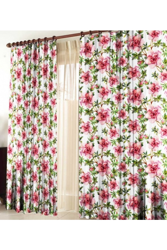 Шторы для комнатыДля комнаты<br>Чудесные шторы для комнаты. Украсте свой дом с нашими изделиями  Цвет: белый, розовый, зеленый.  В комплект входят: 2 полотна размером: 145 * 270 ± 5 см  Тюль в комплект не входит.   Крепление: Шторная лента (на обычный карниз)<br><br>Карниз: Однорядный<br>По материалу: Тканевые<br>По рисунку: Растительные мотивы,Цветные,Цветочные,С принтом<br>По стилю: Классические шторы,Раздвижные шторы<br>Размеры: До пола<br>Размер : 290*270<br>Материал: Габардин<br>Количество в наличии: 2