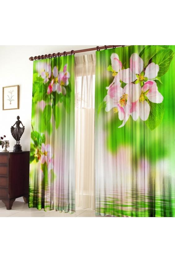 Шторы для комнатыДля комнаты<br>Чудесные шторы для комнаты. Украсте свой дом с нашими изделиями  Цвет: белый, зеленый.  В комплект входят: Размер: 145 * 270 ± 5 см * 2 шт   Крепление: Шторная лента (на обычный карниз)<br><br>Карниз: Однорядный<br>По материалу: Тканевые<br>По рисунку: Растительные мотивы,Цветные,Цветочные,С принтом<br>По стилю: Классические шторы,Раздвижные шторы<br>Размеры: До пола<br>Размер : 290*270<br>Материал: Габардин<br>Количество в наличии: 2
