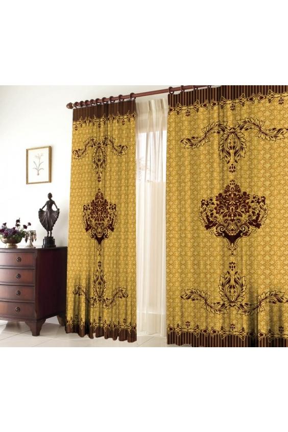 Шторы для комнатыДля комнаты<br>Чудесные шторы для комнаты. Украсте свой дом с нашими изделиями  Цвет: коричневый, желтый.  В комплект входят: Размер: 145 * 270 ± 5 см * 2 шт   Крепление: Шторная лента (на обычный карниз)<br><br>Карниз: Однорядный<br>По материалу: Тканевые<br>По рисунку: С принтом (печатью),Цветные<br>По стилю: Классические шторы,Раздвижные шторы<br>Размеры: До пола<br>Размер : 290*270<br>Материал: Габардин<br>Количество в наличии: 1