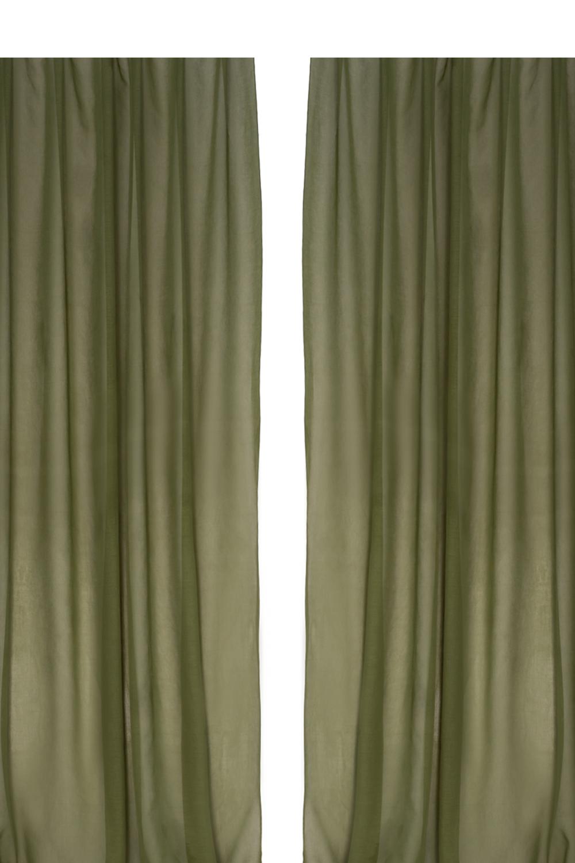 Комплект шторДля комнаты<br>Шторы придают окну законченный внешний вид, создавая в помещении атмосферу уюта и тепла.  Тюль 2 шт размер 200*250 см.  Цвет: зеленый<br><br>Карниз: Однорядный<br>По стилю: Классические шторы,Раздвижные шторы<br>Размеры: До пола<br>По материалу: Органза<br>По рисунку: Однотонные<br>По сезону: Всесезон<br>Размер : 250*400<br>Материал: Органза<br>Количество в наличии: 2