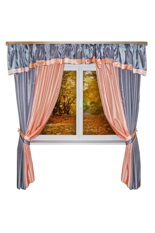 Шторы для комнатыДля комнаты<br>Шторы – это основной элемент интерьера, они всегда в центре внимания, несмотря на богатство мебели. При выборе штор самое первое и, пожалуй, главное – определится с подбором ткани, ее цветом и фактурой.  Шторы для гостинной изготавливаются из более плотных тканей, таких как жакард, тафта, велюр. Они могут дополнятся ламбрекеном со всевозможными декоративными элементами: стразами, бахромой, лентами. В предложенных моделях тюль не входит в комплект.   Размер: 440*250 см., ламбрекен 450 см.  В изделии использованы цвета: серый, коралловый.<br><br>Карниз: Двухрядный<br>По материалу: Тканевые<br>По рисунку: Однотонные<br>По способу крепления: С ламбрекеном<br>По стилю: Классические шторы,Раздвижные шторы<br>Размеры: До пола<br>По сезону: Всесезон<br>Размер : 440*250<br>Материал: Тафта<br>Количество в наличии: 2