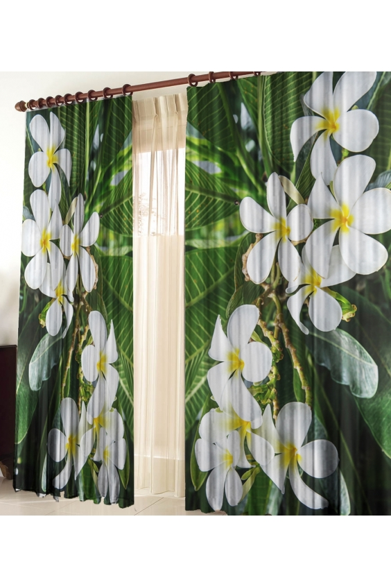 Шторы для комнатыДля комнаты<br>Чудесные шторы для комнаты. Украсте свой дом с нашими изделиями  Цвет: белый, зеленый.  В комплект входят: 2 полотна размером: 145 * 270 ± 5 см  Тюль в комплект не входит.  Крепление: Шторная лента (на обычный карниз)<br><br>Карниз: Однорядный<br>По материалу: Тканевые<br>По рисунку: Растительные мотивы,С принтом (печатью),Цветные,Цветочные<br>По стилю: Классические шторы,Раздвижные шторы<br>Размеры: До пола<br>Размер : 290*270<br>Материал: Габардин<br>Количество в наличии: 1