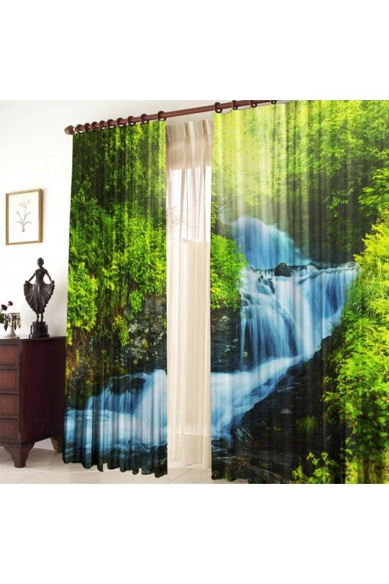 Шторы для комнатыДля комнаты<br>Чудесные шторы для комнаты. Украсте свой дом с нашими изделиями  Цвет: голубой, зеленый.  В комплект входят: Размер: 145 * 270 ± 5 см * 2 шт   Крепление: Шторная лента (на обычный карниз)<br><br>По стилю: Классические шторы,Раздвижные шторы<br>По материалу: Тканевые<br>По рисунку: Растительные мотивы,С принтом (печатью),Цветные<br>Карниз: Однорядный<br>Размеры: До пола<br>Размер: 290*270<br>Материал: 100% полиэстер<br>Количество в наличии: 1
