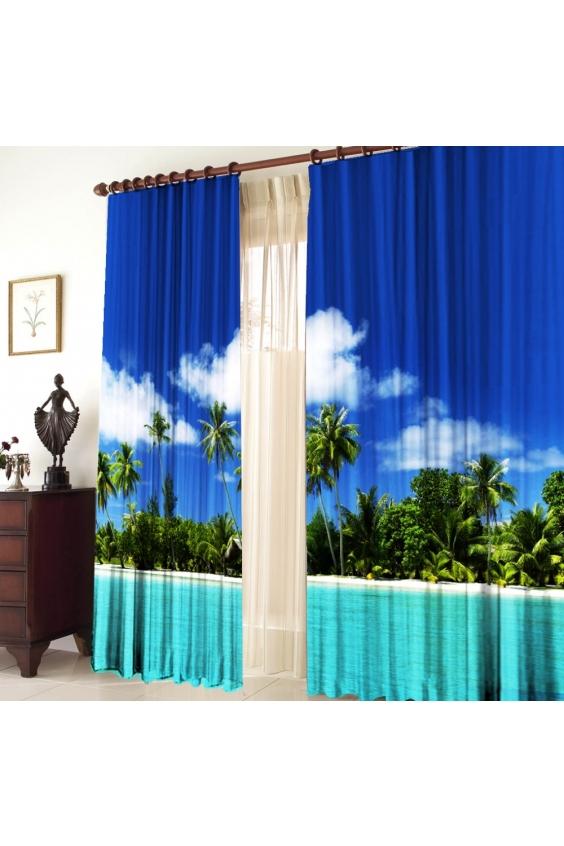 Шторы для комнатыДля комнаты<br>Чудесные шторы для комнаты. Украсте свой дом с нашими изделиями  Цвет: синий, лазурный, зеленый.  В комплект входят: 2 полотна размером 145 * 270 ± 5 см   Крепление: Шторная лента (на обычный карниз)<br><br>Карниз: Однорядный<br>По материалу: Тканевые<br>По рисунку: Растительные мотивы,С принтом (печатью),Цветные<br>По стилю: Классические шторы,Раздвижные шторы<br>Размеры: До пола<br>Размер : 290*270<br>Материал: Габардин<br>Количество в наличии: 2