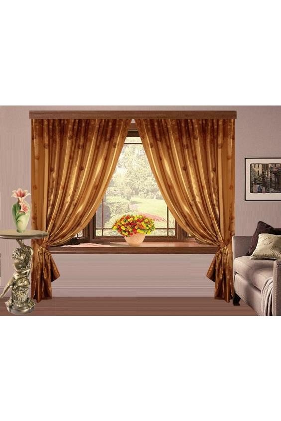 Шторы для комнатыДля комнаты<br>Чудесные шторы для комнаты. Украсте свой дом с нашими изделиями  Цвет: коричневое золото.  В комплект входят: Размер: 160 * 250 ± 5 см * 2 шт + 2 подхвата  Крепление: Шторная лента (на обычный карниз)<br><br>Карниз: Однорядный<br>По материалу: Портьерные ткани<br>По рисунку: Однотонные<br>По стилю: Классические шторы,Раздвижные шторы<br>Размеры: До пола<br>Размер : 320*250<br>Материал: Портьерные ткани<br>Количество в наличии: 1