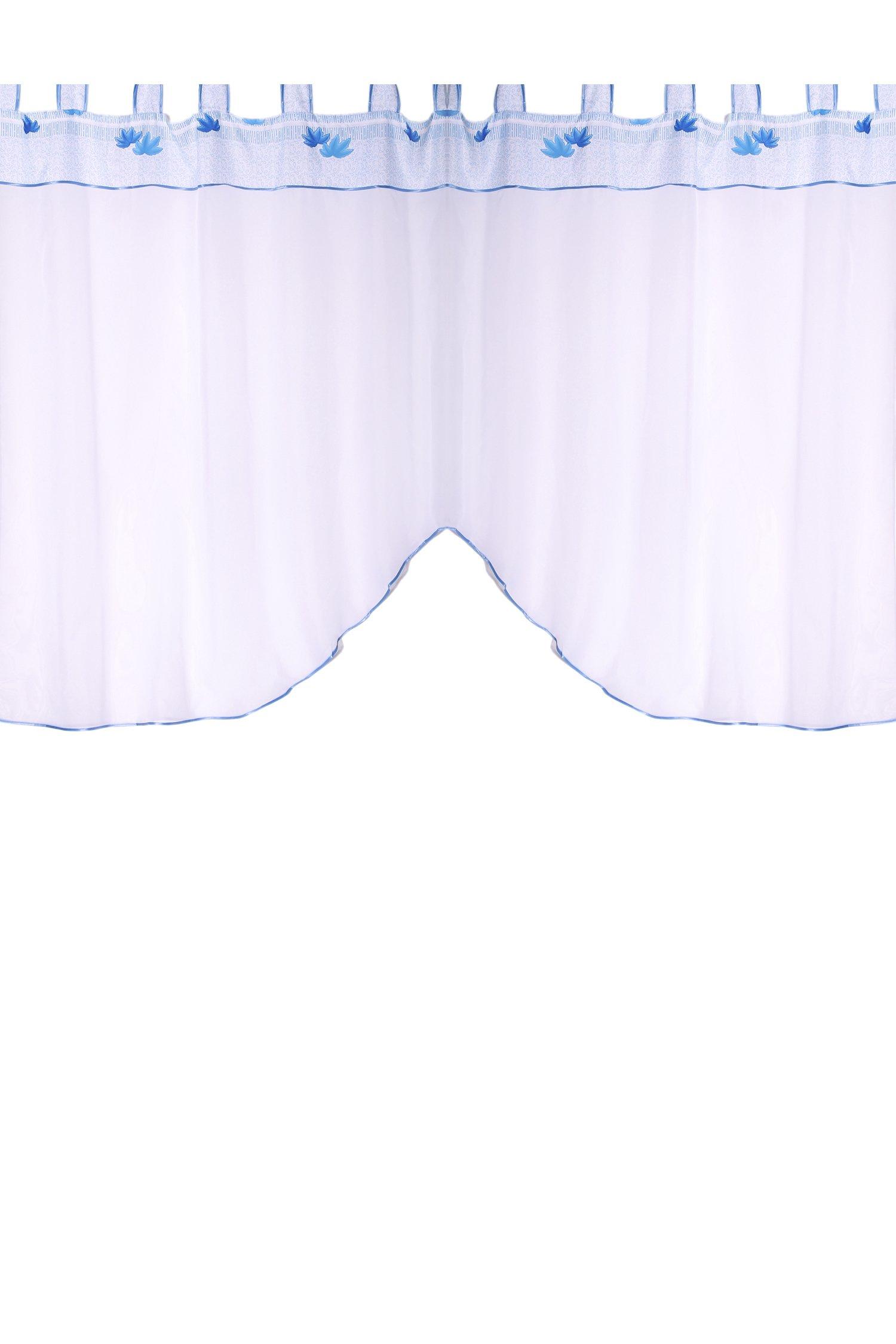 Шторы для кухниДля кухни<br>Шторы изготовлены специально для круглых карнизов и одеваются на трубку карниза с помощью специальных петель.  В комплект входят (ширина х высоту): Штора: 290см x 170см; Материал: вуаль, ткань декоративная. Высота комплекта: 1,7 метра. Рекомендуемая длина карниза: 2 метра; Тип карниза: однорядный; Способ крепления: петли.<br><br>Карниз: Однорядный<br>Отделка края: Лентами<br>По материалу: Вуаль<br>По рисунку: Однотонные<br>По способу крепления: На петлях<br>По стилю: Классические шторы<br>Размеры: До подоконника<br>Размер : 1,7*2,0<br>Материал: Вуаль<br>Количество в наличии: 1