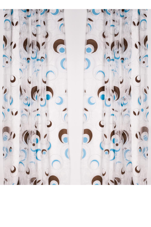 ШтораДля комнаты<br>Шторы придают окну законченный внешний вид, создавая в помещении атмосферу уюта и тепла.  В комплекте 2 штуки.  Размеры:  ширина 200 см высота 270 см  Цвет: белый, голубой, коричневый<br><br>Карниз: Однорядный<br>По материалу: Портьерные ткани<br>По рисунку: С принтом (печатью),Цветные<br>По стилю: Классические шторы<br>Размеры: До пола<br>Размер : 200*270<br>Материал: Портьерные ткани<br>Количество в наличии: 1