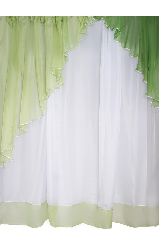 Шторы для комнатыДля комнаты<br>Шторы – это основной элемент интерьера, они всегда в центре внимания, несмотря на богатство мебели. При выборе штор самое первое и, пожалуй, главное – определится с подбором ткани, ее цветом и фактурой.   Шторы для гостинной изготавливаются из более плотных тканей, таких как жакард, тафта, велюр. Они могут дополнятся ламбрекеном со всевозможными декоративными элементами: стразами, бахромой, лентами.   Размер: ламбрекен 670*195 см., тюлевое полотно 600*250 см.  В изделии использованы цвета: зеленый, белый<br><br>Карниз: Двухрядный<br>По материалу: Органза<br>По рисунку: Однотонные<br>По способу крепления: С ламбрекеном<br>По стилю: Классические шторы<br>Размеры: До пола<br>Размер : 600*250<br>Материал: Органза<br>Количество в наличии: 2