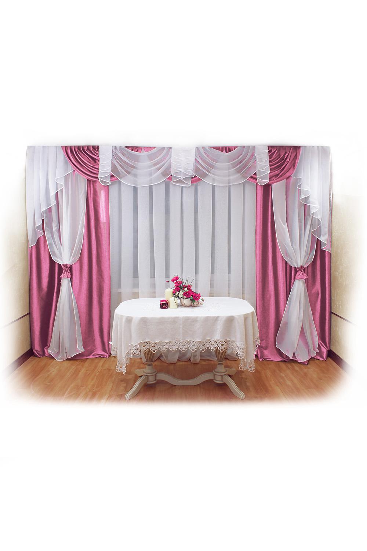 Шторы для комнатыДля комнаты<br>Шторы – это основной элемент интерьера, они всегда в центре внимания, несмотря на богатство мебели. При выборе штор самое первое и, пожалуй, главное – определится с подбором ткани, ее цветом и фактурой.  Шторы для гостинной изготавливаются из более плотных тканей, таких как жакард, тафта, велюр. Они могут дополнятся ламбрекеном со всевозможными декоративными элементами: стразами, бахромой, лентами. В предложенных моделях тюль не входит в комплект.   Размер: 440*250 см., ламбрекен 360 см.  В изделии использованы цвета: розовый, белый.<br><br>Карниз: Трехрядный<br>По материалу: Тканевые<br>По рисунку: Однотонные<br>По стилю: Классические шторы,Раздвижные шторы<br>Размеры: До пола<br>По сезону: Всесезон<br>Размер : 440*250<br>Материал: Тафта<br>Количество в наличии: 2