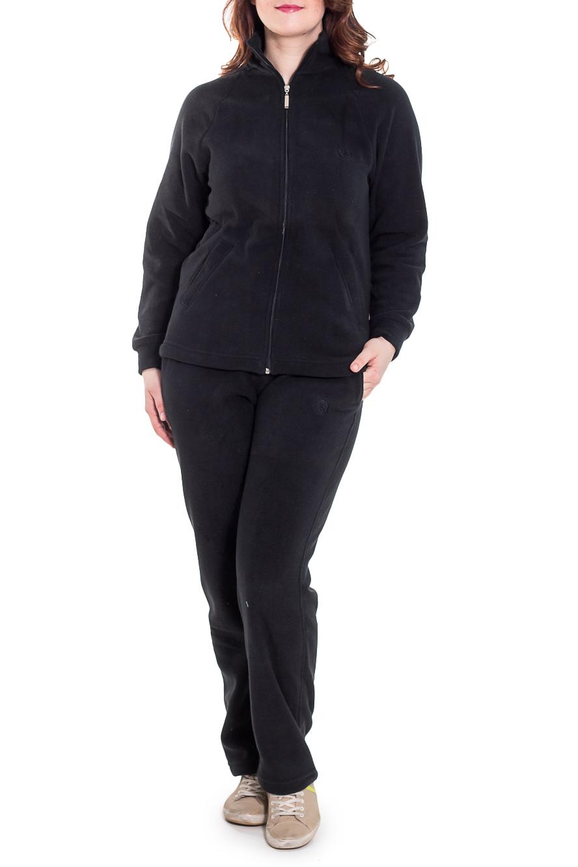 Спортивный костюмСпортивные костюмы<br>Удобный спортивный костюм. Модель выполнена из мягкого флиса. Отличный выбор для занятий спортом или активного отдыха.  Цвет: темно-серый  Рост девушки-фотомодели 180 см.<br><br>Воротник: Стойка<br>Застежка: С молнией<br>По длине: Макси<br>По материалу: Трикотаж,Флис<br>По образу: Город,Спорт<br>По рисунку: Однотонные<br>По сезону: Зима,Осень,Весна<br>По силуэту: Полуприталенные<br>По стилю: Повседневный стиль,Спортивный стиль<br>По форме: Брюки,Костюм двойка<br>По элементам: С карманами,С манжетами<br>Рукав: Длинный рукав<br>Размер : 48,50,52<br>Материал: Флис<br>Количество в наличии: 3